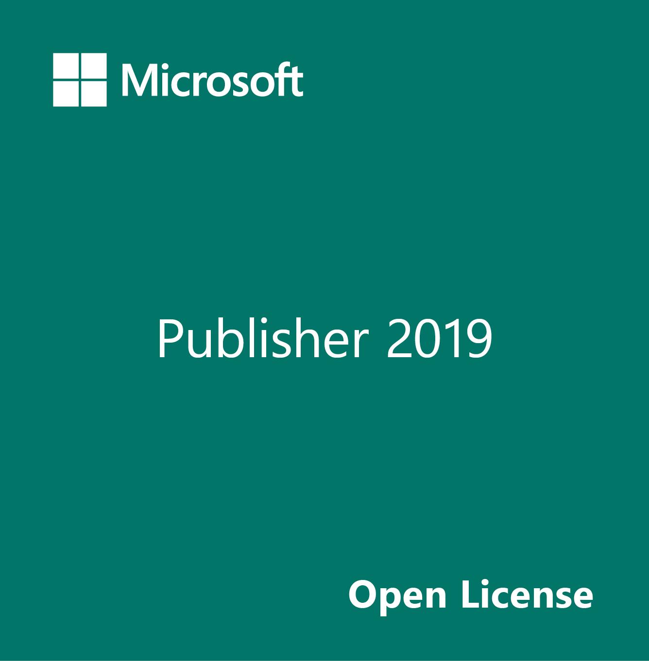 Microsoft Publisher 2019 Open License Enespa Software Shop